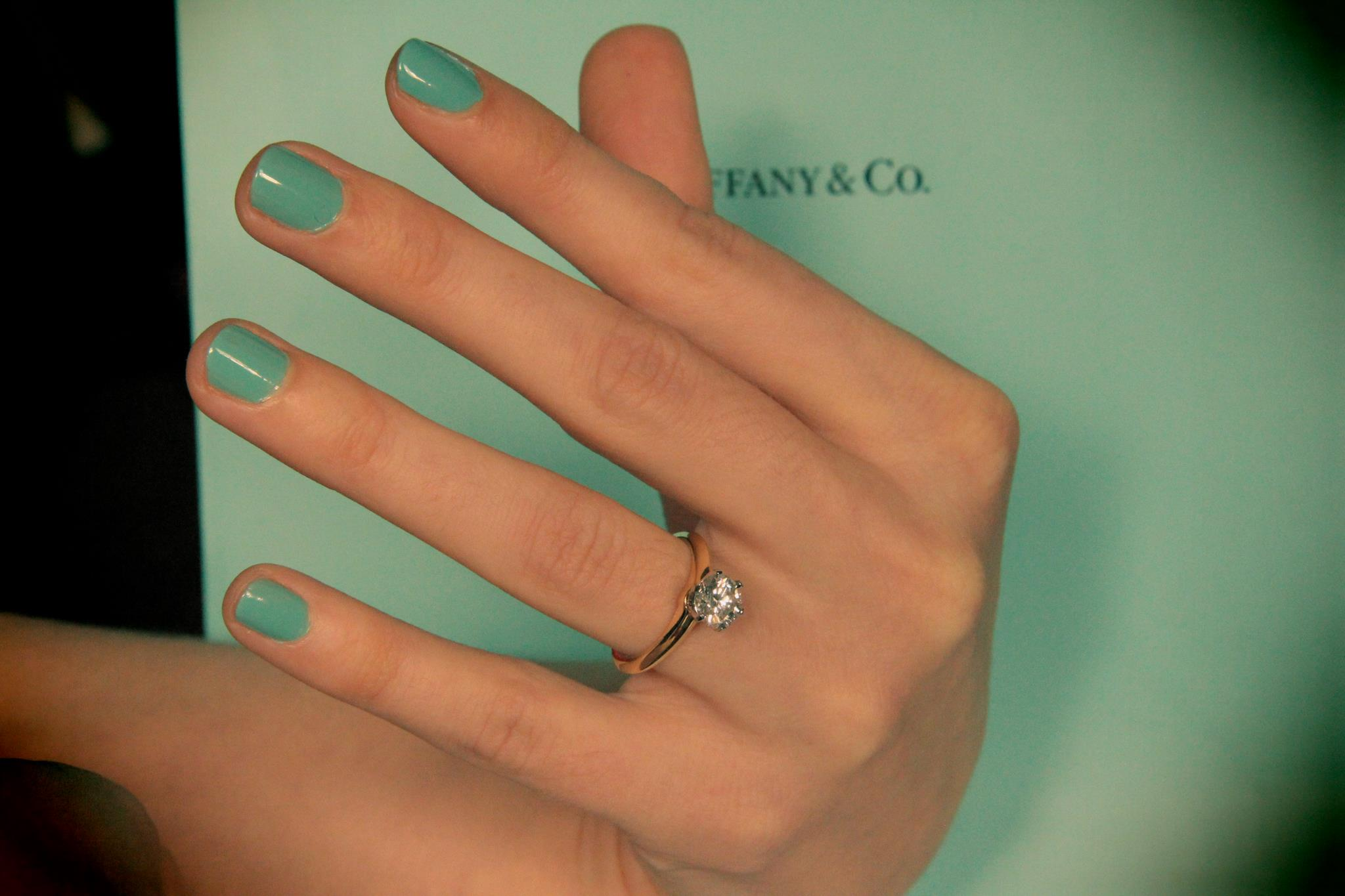 Engagement ring Tiffany Setting Matt hearts Lauren